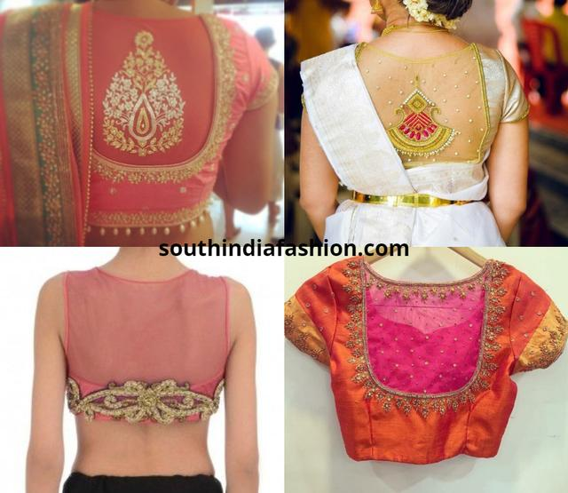 32 Exotic Sheer Back Blouses For Pattu Sarees