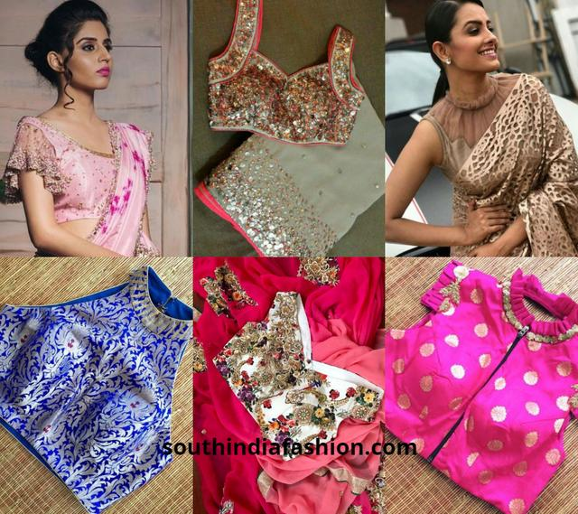 10 Fancy Blouses For Fancy Sarees