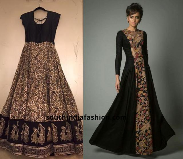 77807e3f71 20 Beautiful Kalamkari Anarkali And Gown Designs To Try Out!!_国际_ ...