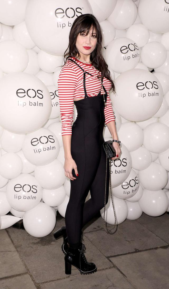 Daisy Lowe at EOS Lip Balm Winter Lips Party