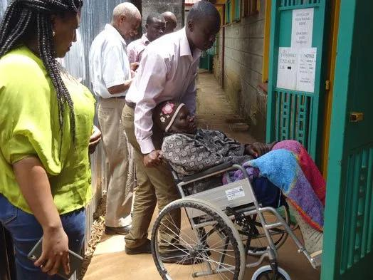 SHOCKING:Ailing 73-year-old granny arrives court in wheelchair to divorce her husband of 55-years:BUT WHY?