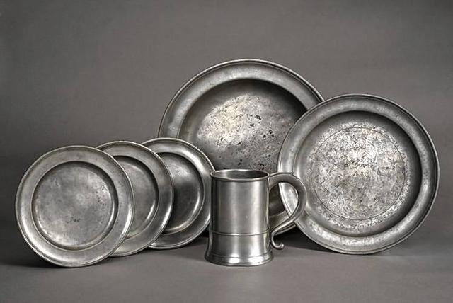 From the Display Case: Pewter dishes from the 1700s