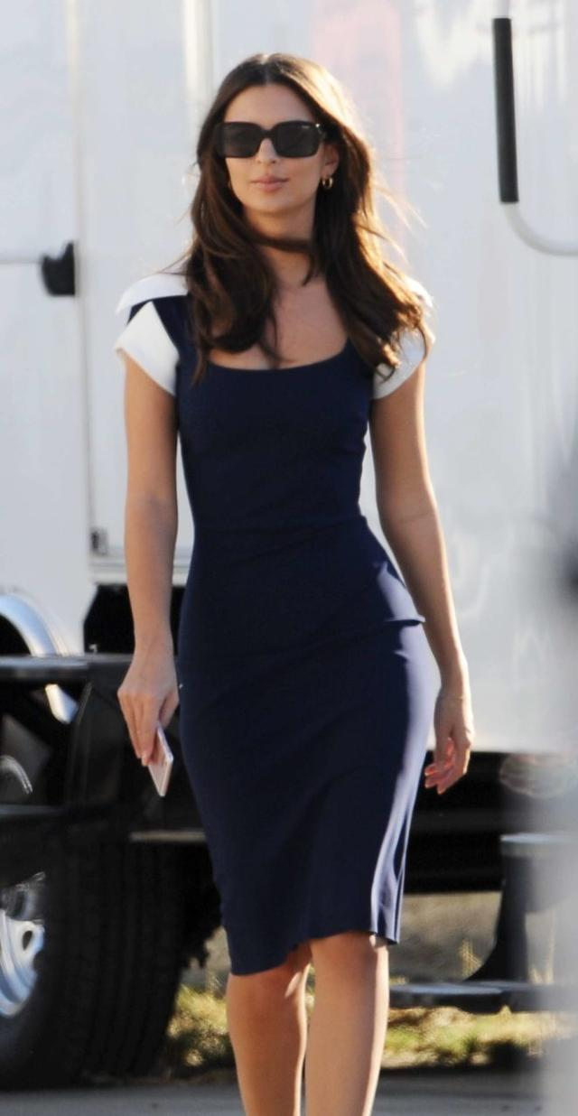 Emily Ratajkowski in Mini Dress