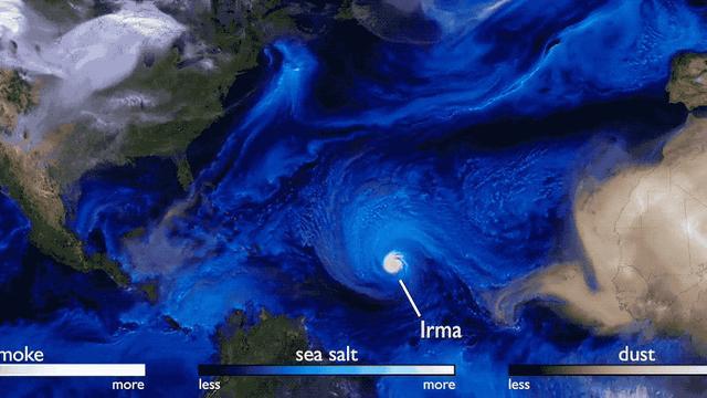 Stunning Aerosol Visualisation Accidentally Captures The Ferocity Of This Year's Hurricane Season