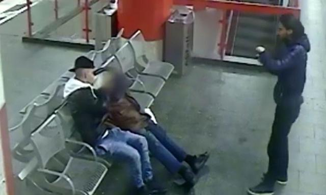 CCTV captures two men taking selfies with sleeping homeless person 'before trying to set him on fire'