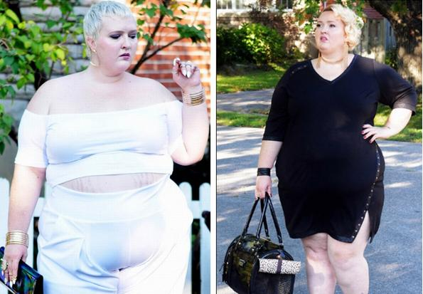 280 pounds of women wearing fashionable clothes, but many people like her