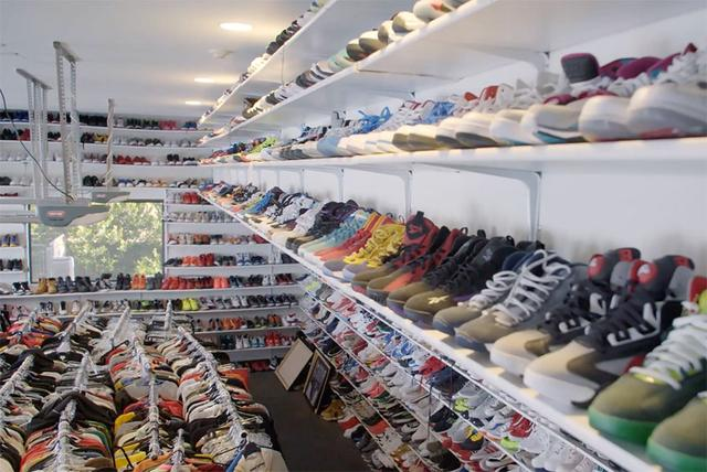Just a small part of Chris Brown's Sneaker Collection