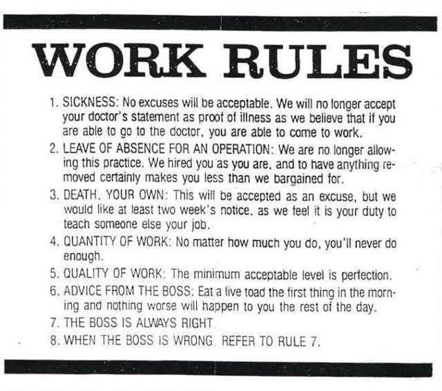 STUPID Workplace rules_国际_蛋蛋赞