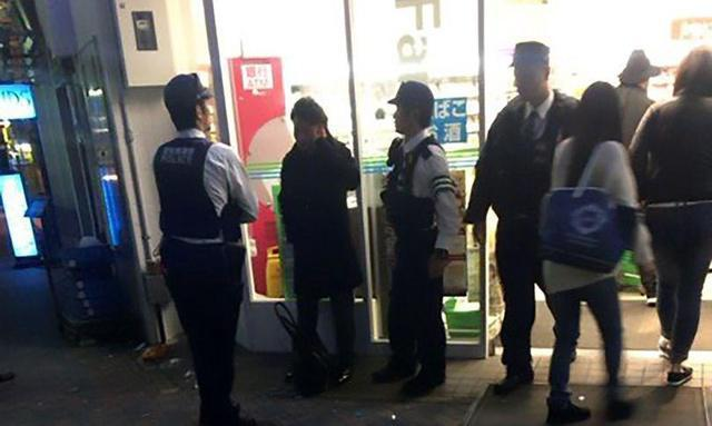 Drunk man urinates on supermarket ready-meals before being strong-armed out by security while still peeing
