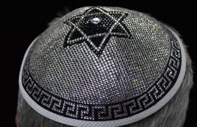 World's most expensive kippah adorned with 3,500 crystals goes on sale in London