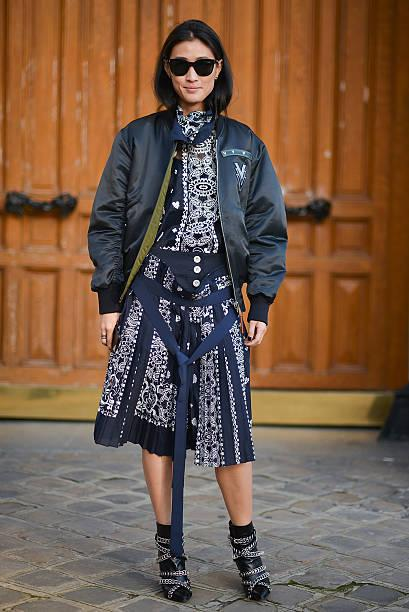 52fc1d98 Fall Style Trend: Bomber Jackets Justin Lee poses wearing a ...