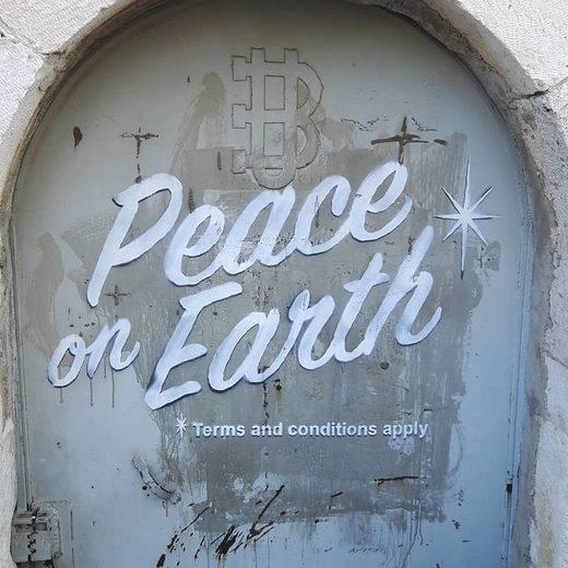 British street artist Banksy's Bethlehem Christmas message with a twist