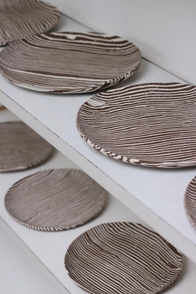 Safariware: ceramic artist crafts tableware inspired by animal stripes
