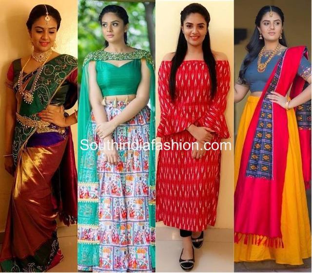 4ae31d0c6 A Look At Sreemukhi's Style Sense – South India Fashion_国际_蛋蛋赞