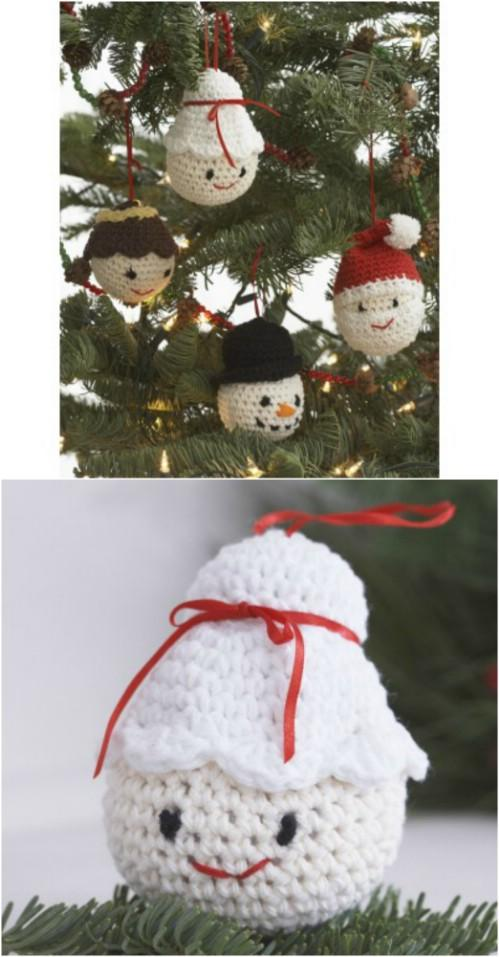 30 Easy Crochet Christmas Ornaments To Decorate Your Tree 国际 蛋蛋赞