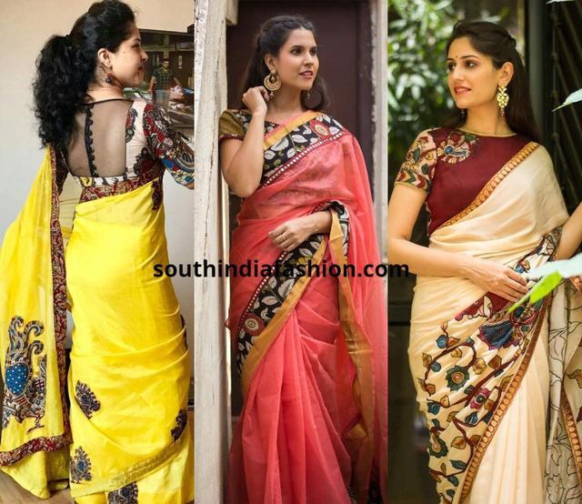 46791a7df170c Top 5 Saree Choices With Kalamkari Blouses 国际 蛋蛋赞