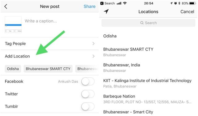 How to add a location in instagram how to add a location in instagram ccuart Choice Image