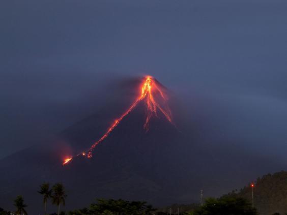 Quiet eruption