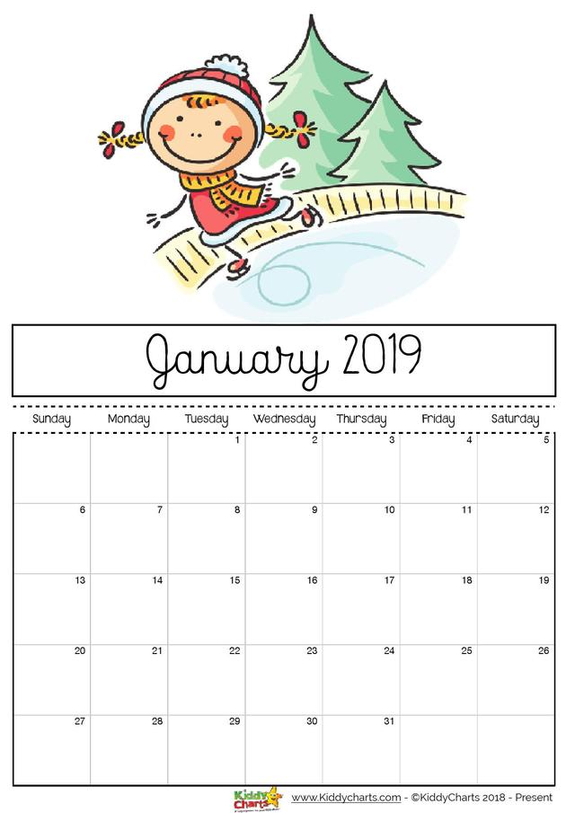 Free Printable 2019 Calendar For Kids 国际 蛋蛋赞