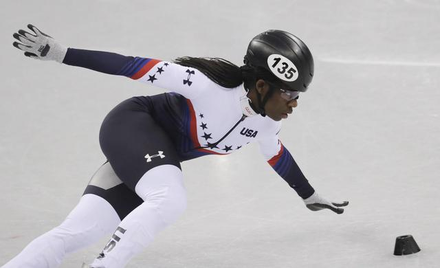 The Latest: US' Biney makes it to short-track quarterfinals