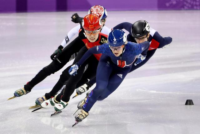 Elise Christie into 500m short-track quarter-finals after winning heat at Winter Olympics 2018