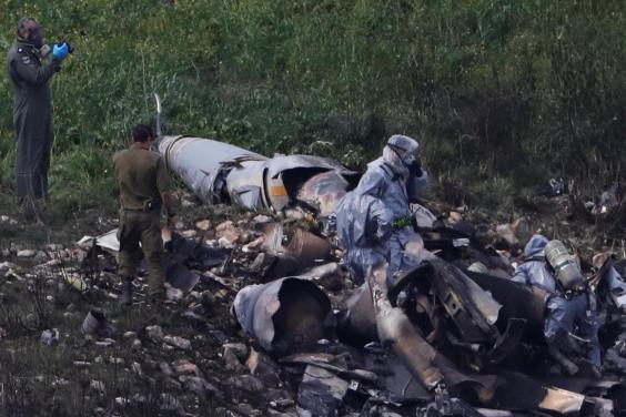 Israel launches 'large scale attack' on Syria after F-16 jet crash