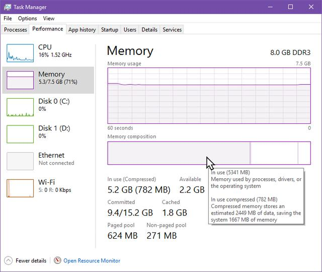 windows 10 memory compression not working