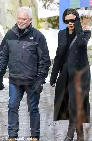 7fb71e879ea2 ... Victoria Beckham enjoys a low-key stroll with parents in Whistler ...