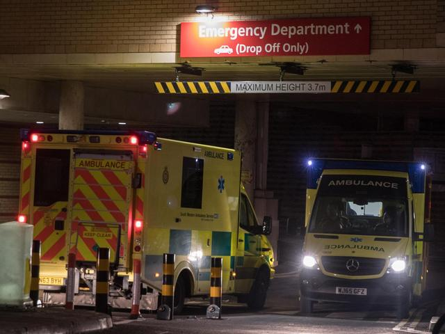 Record levels of hospital patients waiting on trollies fa7834832