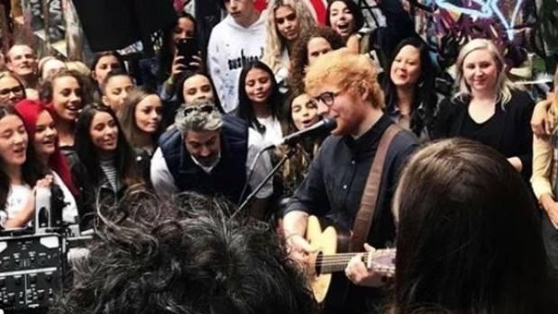 Ed Sheeran surprises Australian fans with secret gig