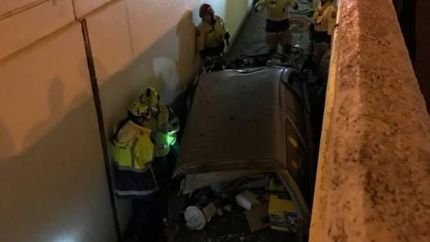 Clean up after car crashes into Lower Hutt subway