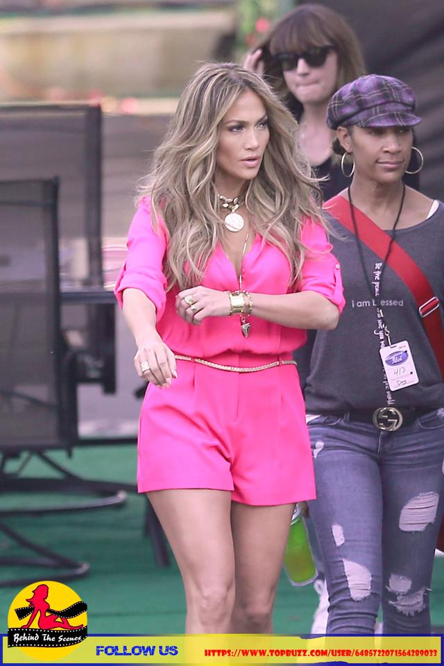 Jennifer Lopez Wearing Pink Shorts