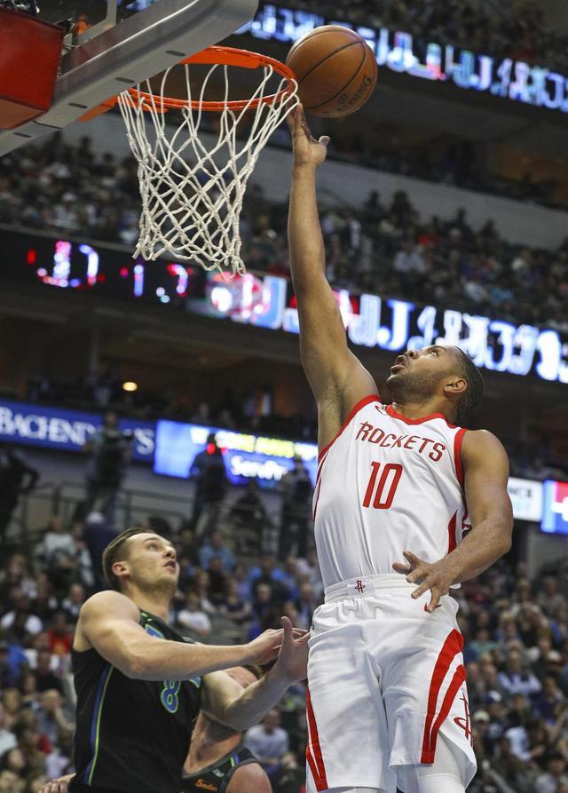 Gordon, Paul lead Harden-less Rockets past Mavericks 105-82