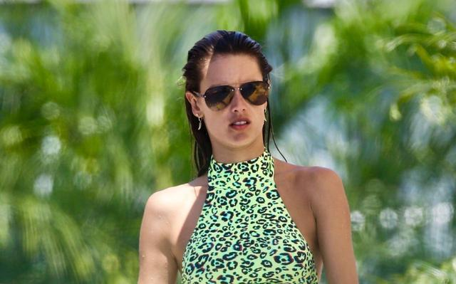 Alessandra Ambrosio on the Beach [Head Shots Only]