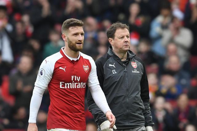 Arsenal's Shkodran Mustafi set for tests on groin injury ahead of AC Milan clash