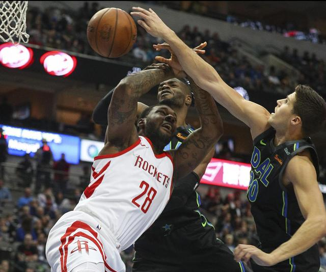 Gordon, Paul lead Harden-less Rockets past Mavericks 105-82