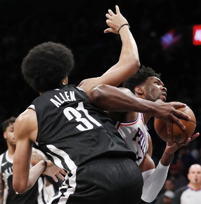 Embiid, Covington lead 76ers to easy win over Nets