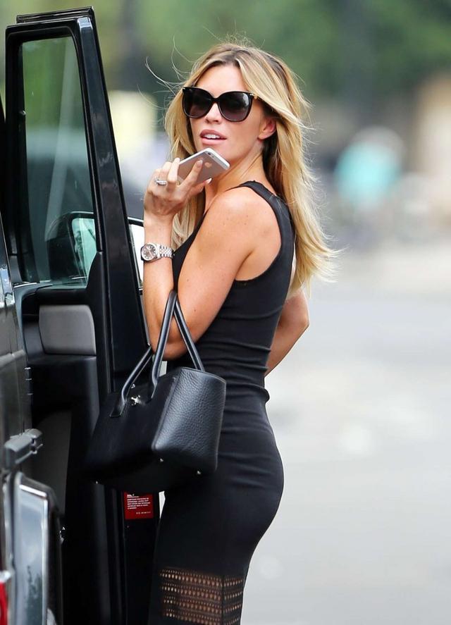 Abbey Clancy In Black Dress Street Style