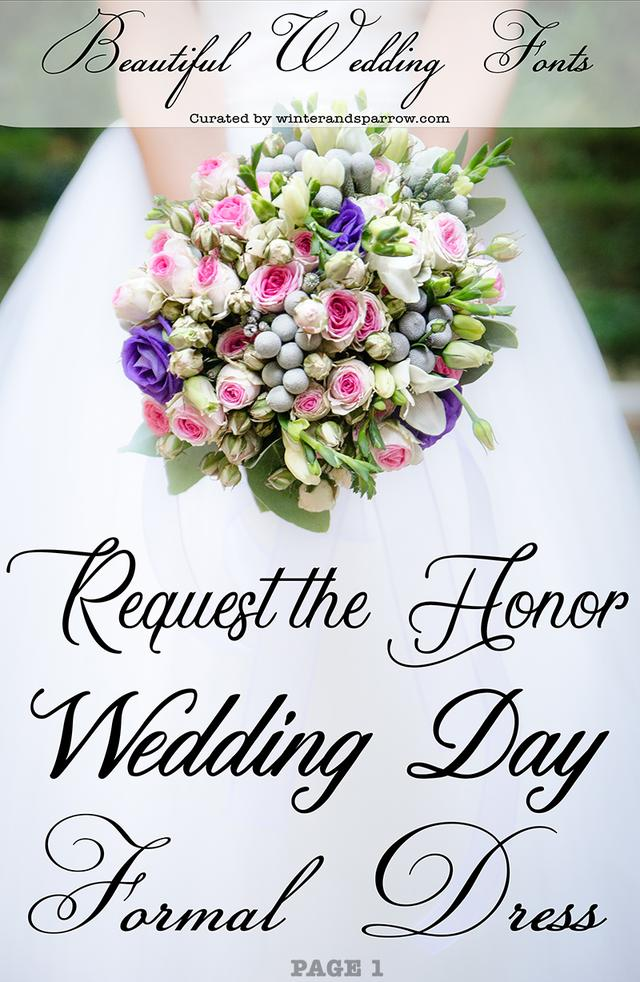 17 Beautiful Wedding Fonts (free to download)_国际_蛋蛋赞