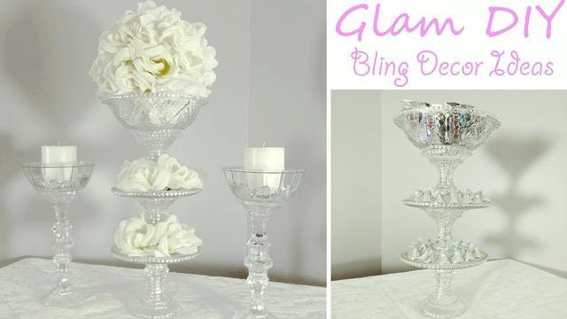 Dollar Tree Diy Glam Bling Wedding Centerpiece 3 Tier Candy Tray