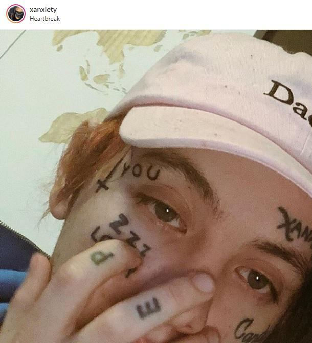 Lil Xan With Out Tattos: Lil' Xan Before And After Face Tattoos!_国际_蛋蛋赞