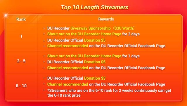 100% Chance to Win DU Recorder Giveaway Sponsorship &