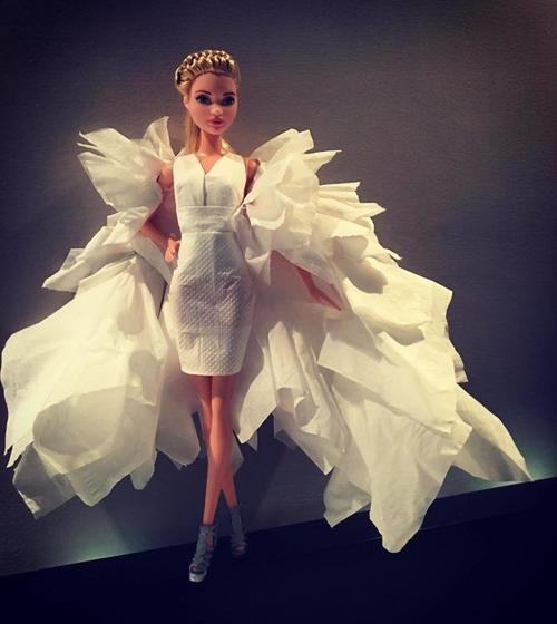 Just from a tissue, 15 Barbie wedding dress is really like a ...