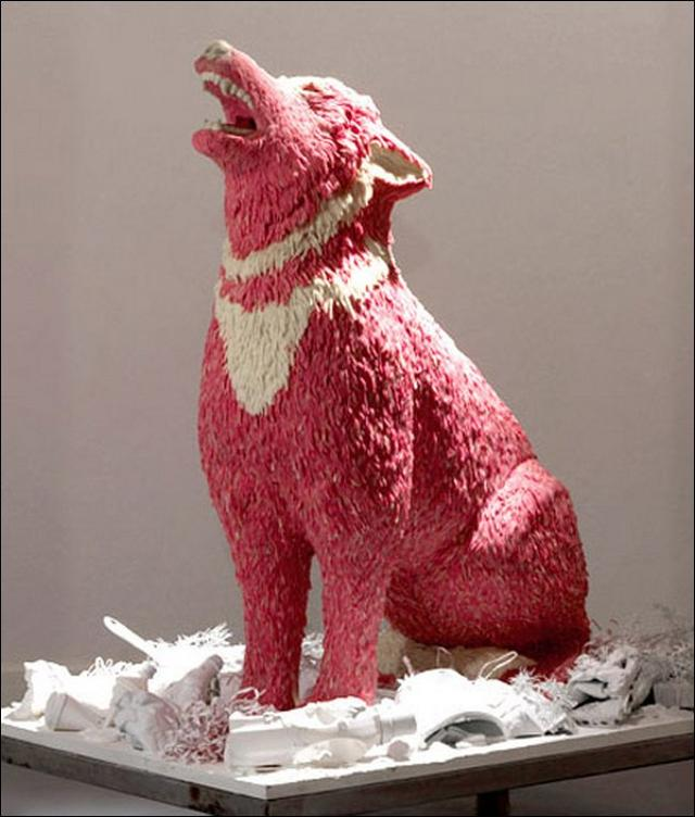 7 This Sculpture Is Made of Chewing Gum, Very Creative