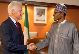 Who Knows Why President Trump Was Laughing,  as President Buhari Was Given Him a Hand Shake.