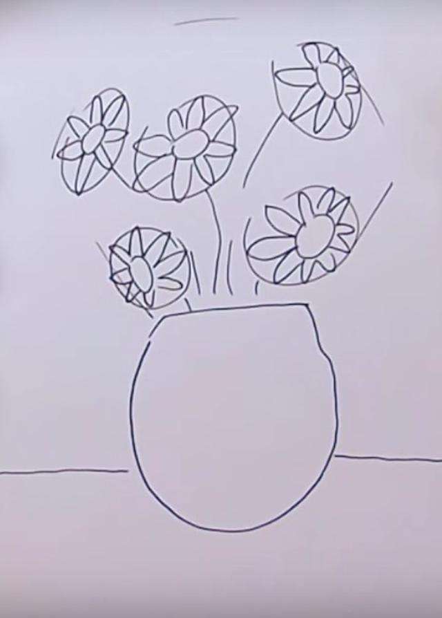 How To Draw A Vase With Flowers With Watercolor And Gouache