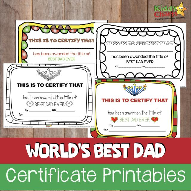 best dad in the world fathers day certificates 国际 蛋蛋赞