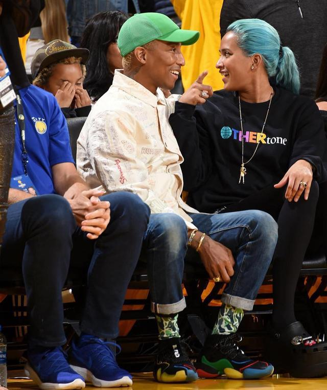 more photos 5a0c4 86ed5 Pharrell Williams Rocks Adidas Crazy BYW X Sneakers with ...