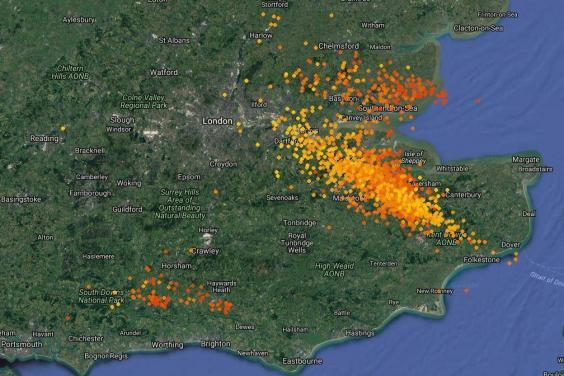 Lightning map: Incredible graphics show stormy weather