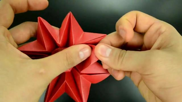 How To Make An Easy Origami Paper Flower 8 Petal Origami Paper